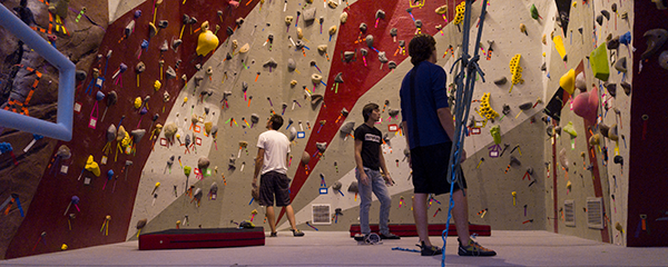 student recreation center climbing wall photo