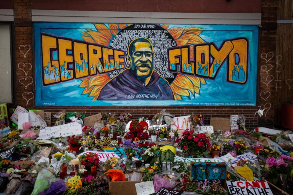 George Floyd Mural and Memorial