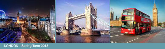 STUDY ABROAD Spring Term 2018 Courses + Trip to London: May 22-31, 2018