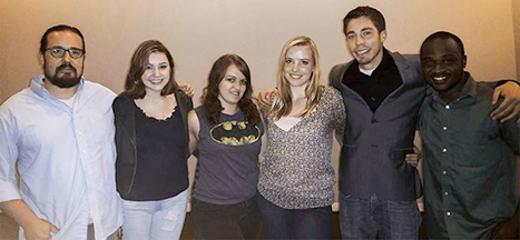 From left to right: Nathan Ernst, Madison Young, Ashley Duke, Hilarie Nelson, Jon Trujillo, Leodis Smith