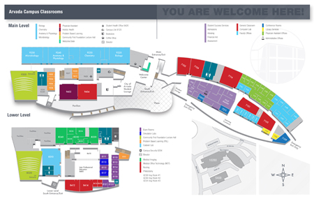 Arvada Campus Interior Map