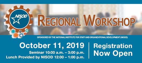 NISOD Workshop for October 11, 2019 at RRCC - Lakewood Campus