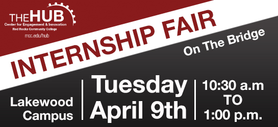 Internship Fair / Tuesday, April 9 / 10:30am-1:00pm / The Bridge - Lakewood