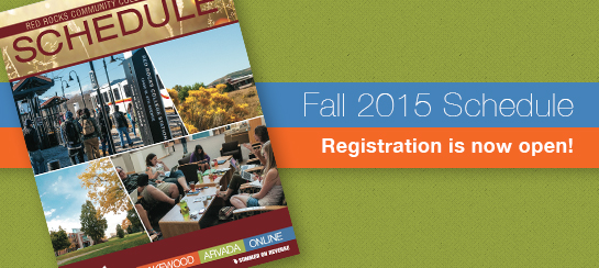 Fall 2015 Schedule -- Registration is now open!
