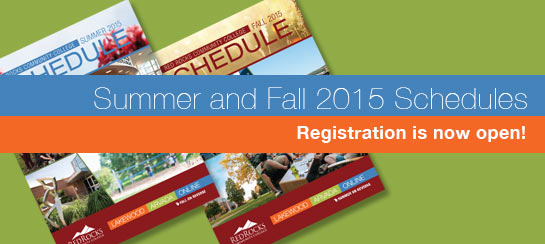 Summer and Fall 2015 Schedules -- Registration is now open!