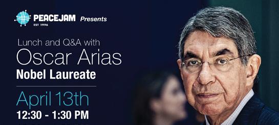 Oscar Arias Q & A/Friday, April 13/12:30-1:30/Grey's/Torrey's Peak