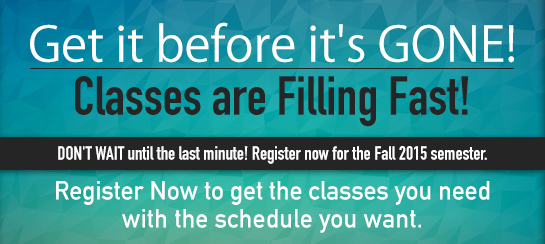 Get it before it's gone -- classes are filling fast!