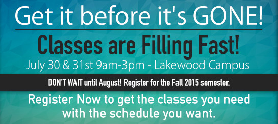 Registration Event - July 30 & 31st 9am-3pm Lakewood Campus graphic