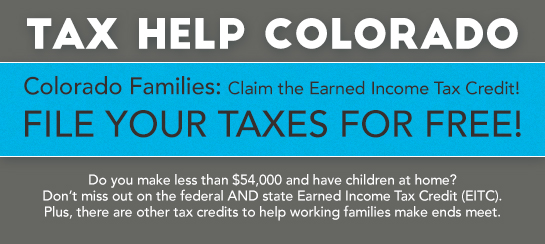 Tax Help Colorado - This free service, which is quick and confidential, will be offered at Red Rocks Community College on Saturdays from January 28 to February 11 from 9 am to 2 pm. Also on Fridays from February 17 to March 10, from 2 pm to 8 pm. The Lakewood campus is located at 13300 West Sixth Avenue and Tax Help will be located in room 1103. Parking is free.