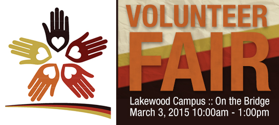 Volunteer Fair :: Lakewood Campus March 3 from 10am to 1pm