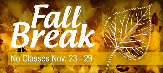 Fall Break 2015 no classes November 23-29