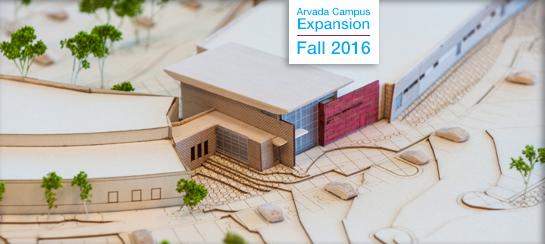 Health Sciences at Arvada Expansion Building model