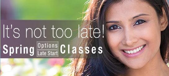 Late Start/Options Classes- Register Now!
