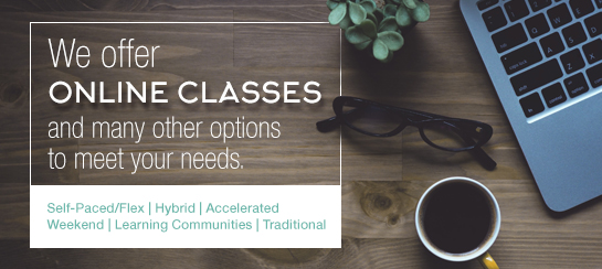Online Classes provide Red Rocks students with the opportunity to take classes from home.
