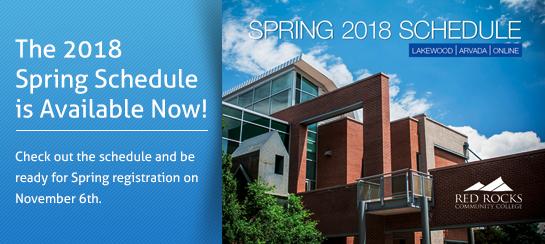 2018 spring schedule