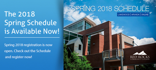 The 2018 Spring Schedule is Available Now! Spring 2018 registration is now open. Check out the Schedule and register now!