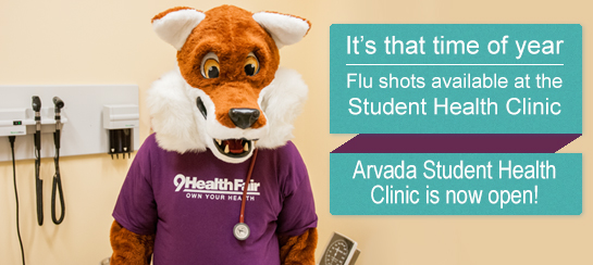 Flue Shots at the Student Health Clinic.