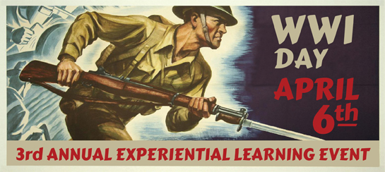 APRIL 6   9:00 AM – 3:00 PM, for WWI DAY!!!