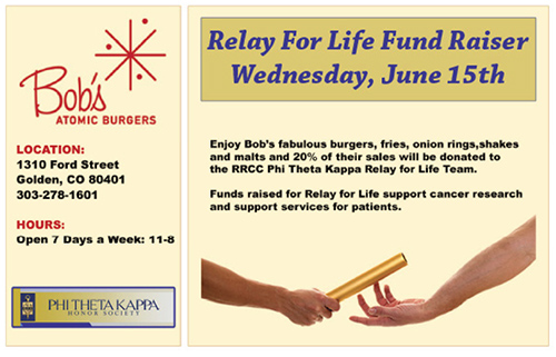 Bob's Atomic Burgers - Relay for Life Fund Raiser, Wednesday June 15