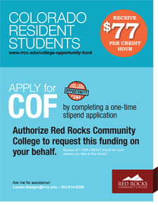 College Opportunity Fund Flyer