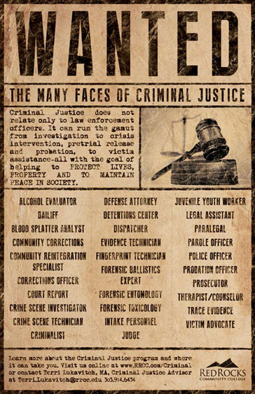 Wanted The Many Faces of Criminal Justice