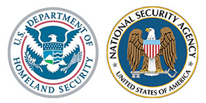 U.S. Department of Homeland Security and National Security Agency logos