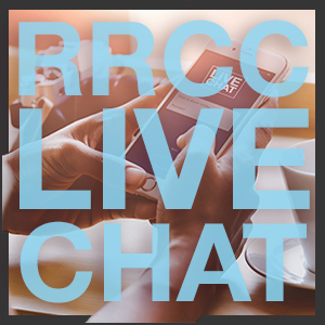 RRCC Live Chat is available Mondays-Fridays, 9:00am - 5:00pm.