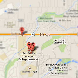 Exterior Maps & Directions to Lakewood Campus | Red Rocks Community on