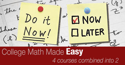 Four math courses combined into two