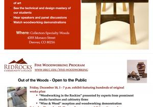 Out of the Woods :: A Fine Woodworking Event | December 18 & 19 at Collectors Specialty Woods 4355 Monaco Street, Denver Colorado, 80216