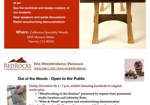 December 18 & 19 at Collectors Specialty Woods 4355 Monaco Street, Denver Colorado, 80216