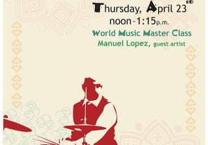 Latin American Percussion masterclass