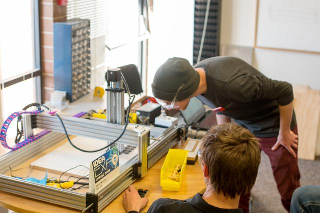 students build CNC machine