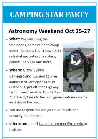 Astronomy weekend trip