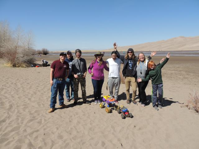 Robotics team at Great Sand Dunes