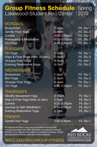 SRC Lakewood Group Fitness Schedule