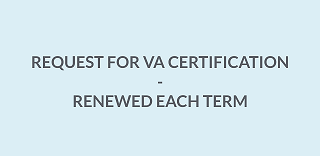 Request for VA Certification Form (Blue Sheet)