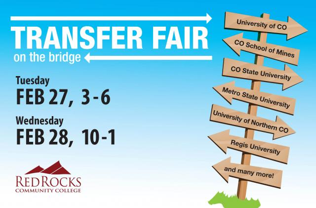 Transfer Fair on the Bridge, Tuesday, February 27 and Wednesday, February 28.