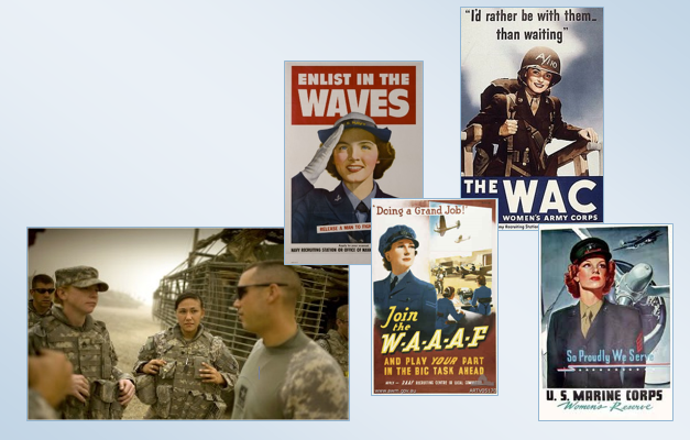 Women Veterans WWII Posters and OIF Soldiers