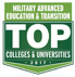 Military Advanced Education and Transition TOP Colleges and Unverisities